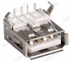 Разъем (371) USB A-FR (USBA-1J) Розетка на плату угловая