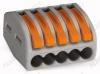 Клемма WAGO 222-415 зажимная 5x2.5мм (0.08-4.0мм) 380V; 32A