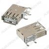Разъем (3716) USB A-111 Розетка на плату вертикальная угловая