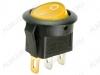 Сетевой выключатель RWB-214 желтый круглый с подсветкой d=20.7mm; 6A/250V; 3 pin