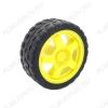 Колесо (пластик+резина) TT-motor диаметр колеса 65мм, толщина: 25мм.