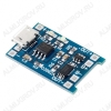 Модуль заряда АКБ TP4056 (с защитой) (micro USB) с дополнительной защитой от токовой перегрузки 3A и переразряда. Защита от переразряда срабатывает при падении напряжения от аккумулятора до 2.39 В.