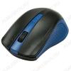 Мышь беспроводная RMW-555 Black/Blue 1000dpi; 2 кнопки + колесо-кнопка; питание AAA*2 шт.