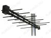 Антенна наружная Альфа H111A-02F-5V активная ДМВ/DVB-T2; 15dB; питание 5V от ресивера; без кабеля; F-разъем