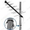 Антенна наружная Дельта H111A-04F-12V активная ДМВ/DVB-T2; 26dB; без кабеля; F-разъем; + блок питания 12V