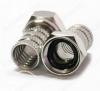 Разъем (3532) F штекер на кабель RG6 влагозащищенный 6.0 мм; цинк-никель