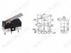 Переключатель RWA-102 пластина (DM1-01P-30) 1A/125V; 3 pin