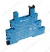 Колодка для реле 38.51.0 серии 93.01.0.024 для 1-контактных тонких интерфейсных реле различных производителей.12-24 VDC / 12-24 VAC;6 А при 250 VAC