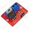 Модуль MOSFET транзистора IRF520 (силовой ключ) Рабочее напряжение: 3.3В, 5В; Выходное напряжение: 0-24 В; Выходной ток нагрузки: до 5А (при токе выше 1А требуется охлаждение); Размер: 33х24 мм