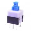 Кнопка PS-800N (без фикс.) 8.0x8.0x13.0mm; 0.1A/30VDC; 6pin