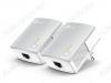 Powerline адаптер TL-PA4010 KIT Комплект из 2-х адаптеров; Powerline AV 500 Мбит/с; Ethernet 100Мбит/с; порт 1xRJ45