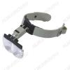 Лупа очки (х1.2/1.8/2.5/3.5)  OT-INL11 (MG81002) 4 линзы: 1,2Х, 1.8Х, 2,5Х,, 3.5Х; Подсветка 1 диод диаметром 3мм; Питание от 3*LR1130(G10)