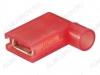 Клемма ножевая (№192) 6.4x0.8 гнездо FLDNY1.25-250 угловая изолированная нейлон сечение 0.5-1.5 мм2; красная