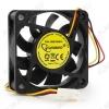 Вентилятор 12VDC 60*60*15mm D6015SM-3 3-pin с датчиком оборотов 0.15A; 25dB; 4000 об;