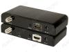HDMI-Удлинитель по коаксиальному кабелю до 100м LKV379 Передача сигнала по кабелю RG6 до 100м, при использовании промежуточных усилителей до 700м, кодировка DVB-T, HDMI 1.3, 1080p, HDCP 1.2, блоки питания