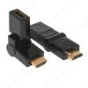Переходник (21972) HDMI штекер/HDMI гнездо поворотный 90/180° (AC-062A/OT-AVW28)