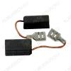 Щетки графитовые 6.3х12.5х20 (572) поводок, клемма, (2 шт) для Интерскол ПЦ-400УШМ-230МА