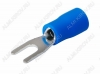 Клемма вилочная (№51) d=3.2мм SV2-3 изолированная сечение 1.5-2.5 мм2; синяя