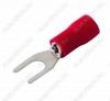 Клемма вилочная (№52) d=4.3мм SV1.25-4 изолированная сечение 0.5-1.5 мм2; красная