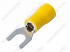 Клемма вилочная (№57) d=5.3мм SV5.5-5 изолированная сечение 3.5-5.5 мм2; желтая