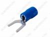 Клемма вилочная (№59) d=6.5мм SV2-6 изолированная сечение 1.5-2.5 мм2; синяя