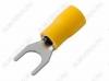 Клемма вилочная (№60) d=6.5мм SV5.5-6 изолированная сечение 3.5-5.5 мм2; желтая