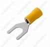 Клемма вилочная (№61) d=8.4мм SV5.5-8 изолированная сечение 3.5-5.5 мм2; желтая