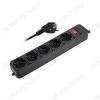 Фильтр сетевой FOP-05GS-500 5м 10A, ABS-пластик, кабель 3х0.75мм; макс. нагрузка 2200Вт
