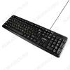 Клавиатура GK-100 Black проводная, USB, кабель 1,3 м, Размеры 443*165*16.5 мм, Вес: 385 г