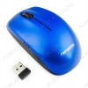 Мышь беспроводная GMW-400B Blue 1000 dpi, USB, 2 кнопоки + колесо-кнопка, питание AAA*2шт, 103*57*35мм, 45 г.