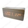 Часы электронные сетевые VST862-1 темно-коричневые