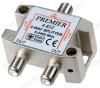 Антенный разветвитель с проходом питания TV 1/2 5-2400 МГц; проход питания на все порты