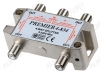 Антенный разветвитель с проходом питания TV 1/4 5-2400 МГц; проход питания на все порты