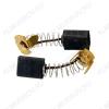 Щетки графитовые 6х10х15 (562) пружина, пятак, уши, (2 шт) для Интерскол УШМ-150