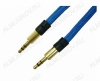Шнур (TS-3231/OT-AVC41) 3.5 шт стерео/3.5 шт стерео 1.0м тонкий штекер, тканевая оплетка, цветной