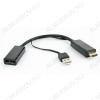 Видеоконвертер HDMI TO DISPLAYPORT (DSC-HDMI-DP) Вход HDMI; выход DISPLAYPORT; питание 5VDC от USB