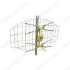 Антенна наружная ASP-4 LOCATOR DVB-T активная, без усилителя, без блока питания ДМВ/DVB-T2; 12-47dB; Комплектация: сетка 1 шт,стойка 1 шт,лепестки 4 шт,ДМВ вибраторы пластик 2 шт,хомуты 2 шт,шпилька с гайкой и втулкой 2 шт