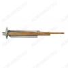 Нагревательный элемент RF + анод М4 1300 Вт.  (20097) фланец 64 мм.; M4 под анод, L-250мм;2 трубки для термостата и термозащиты;  Универсальный ТЭН для плоского водонагревателя (медн..)