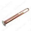 Нагревательный элемент RF 1300 Вт МЕДНЫЙ (30057) фланец 64 мм; M4 под анод; L-250мм, 2 трубки для термостата и термозащиты,. ТЭН для плоского водонагревателя