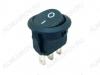Сетевой выключатель RWB-106 ON-ON черный круглый d=15.2mm; 3A/250V; 3 pin