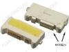 Светодиод SMD 7032; 2.9-3.2V; 350mA; 10000K (белый) боковое свечение 3V; 2pin; широкий: катод(-); для модулей подсветки LED TV