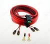 Набор для уст-ки автоусилителя SQ 2.10 Комплект силовых кабелей 10 GA(5,3мм2): 5м. красный, 1м. черный, АТС терминал предохранителя (30A), клеммы, RCA кабель
