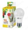 Лампа светодиодная 220В/  7,0Вт/ E27/ 3000К (теплый белый) (L527)/ 630lm (4690612001692);