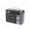 Радиоприемник RPR-200 GRAY УКВ 88,0-108.0МГц; разъем USB, microSD,SD; Питание от аккумулятора/2xR20/220В