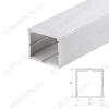 Профиль накладной ARH-POWER-W35-2000 ANOD (016138)  для LED-ленты шириной до 32мм размеры: 2000*35*35мм; комплект: только профиль