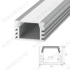 Профиль накладной SF-1612 (000986)  для LED-ленты шириной до 11мм размеры: 2000*16*12мм; комплект: профиль, экран, 2 заглушки, 4 скобы, крепеж
