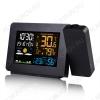 Метеостанция OT-HOM15 с проекционными часами (цвет черный) Измерение наружной и внутренней температуры, внутренней влажности, календарь, часы; питание сети 220В или 1хCR2032, радиодатчика 2хR6(нет в комплекте)