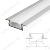 Профиль врезной MIC-F-2000 ANOD (012082)  для LED-ленты шириной до 11мм размеры: 2000*22*6мм; комплект: только профиль