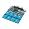 Модуль клавиатура сенсорная TTP226 8 кнопок, на базе микросхемы TTP226; Рабочее напряжение: 2.4В - 5.5В;