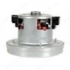 Двигатель пылесоса 1400 Вт HWX-140H-3 D=134, H=125, h=37, VCM-140H-3, с юбкой, контакты раздельно на щётках